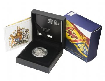 2015 Silver Proof Piedfort Royal Arms One Poun